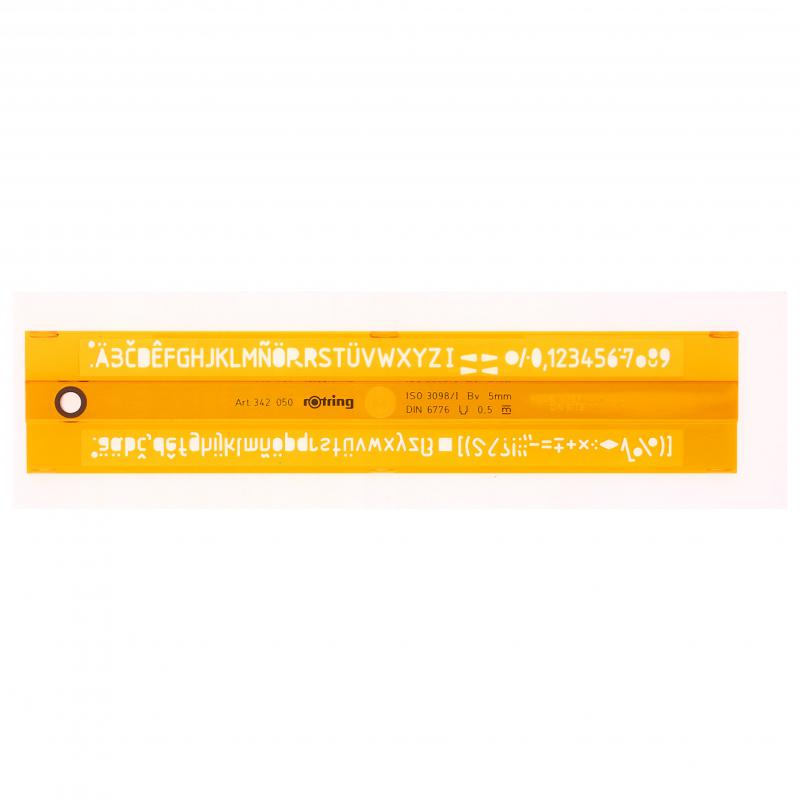 Betűsablon Z-profil félkövér, 5,00 mm