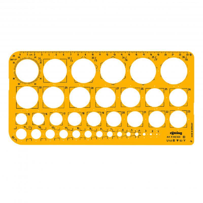 Körsablon 1-36 mm