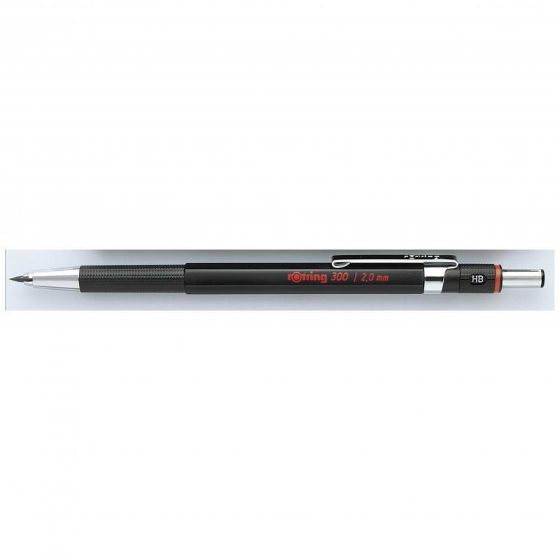 rOtring ceruza (nyomósirón) 300 fekete 2,0 mm