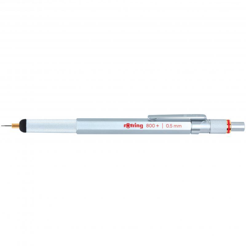 rOtring ceruza (nyomósirón) 800+ Hybrid ezüst 0,5 mm