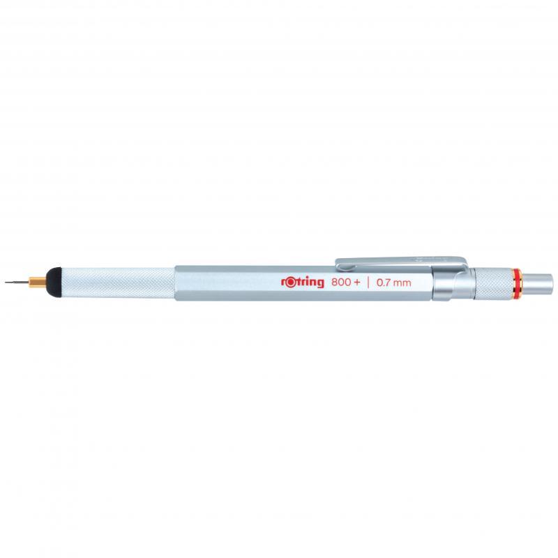 rOtring ceruza (nyomósirón) 800+ Hybrid ezüst 0,7 mm