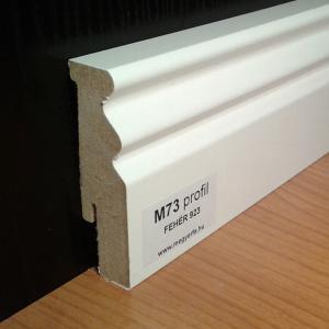 70mm fehér szegélyléc 815 Ft/fm M73