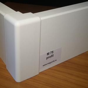 75mm fehér szegélyléc 815 Ft/fm M75