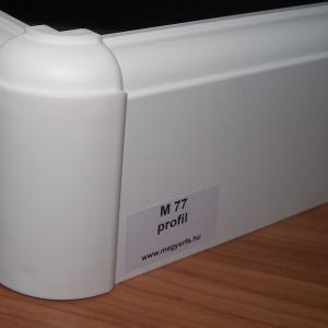 75mm fehér szegélyléc 815 Ft/fm M77