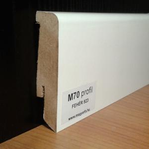 Fehér szegélyléc 654 Ft/fm 70mm M70