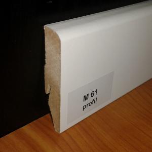 M61 profil 58mm fehér szegélyléc