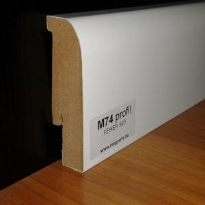 M74 profil 70mm fehér szegélyléc