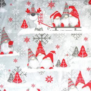 MANÓ, extra széles, karácsonyi mintás pamutvászon