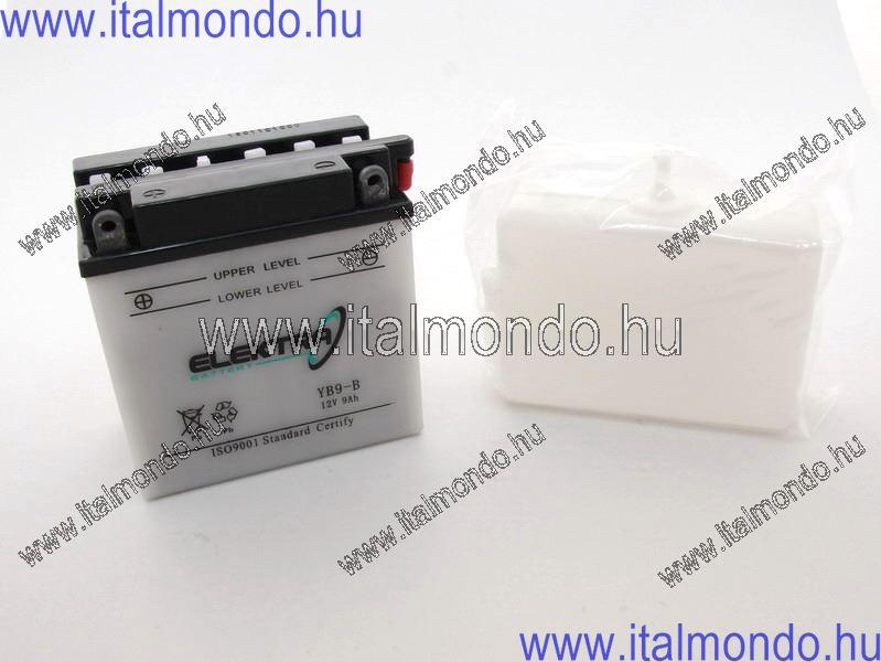 akkumulátor YB9-B savval együtt RMS