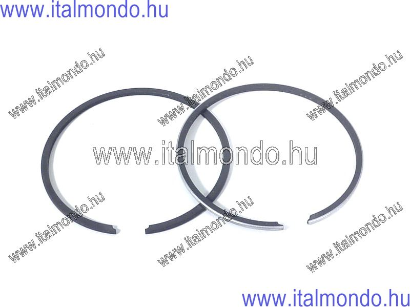 dugattyúgyűrű 40x1,2 belsőstiftes króm+fekete DR