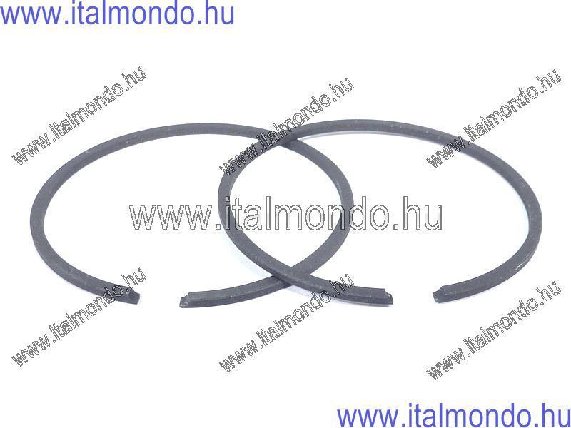 dugattyúgyűrű 40x1,5 oldst. fekete féltrapéz