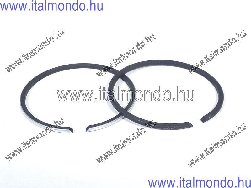 dugattyúgyűrű 40x1,5 oldst. króm+fekete féltrapéz DR
