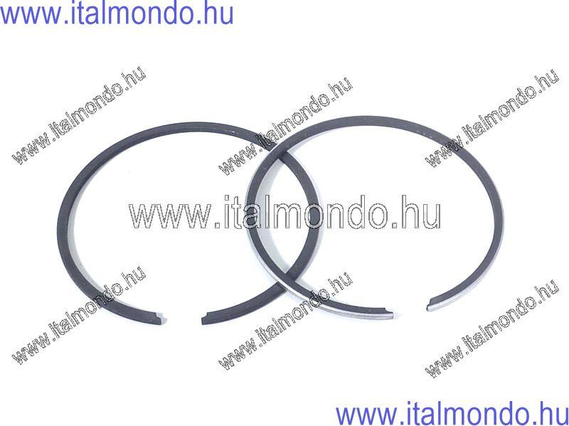 dugattyúgyűrű 41x1,2 belsőstiftes króm+fekete DR