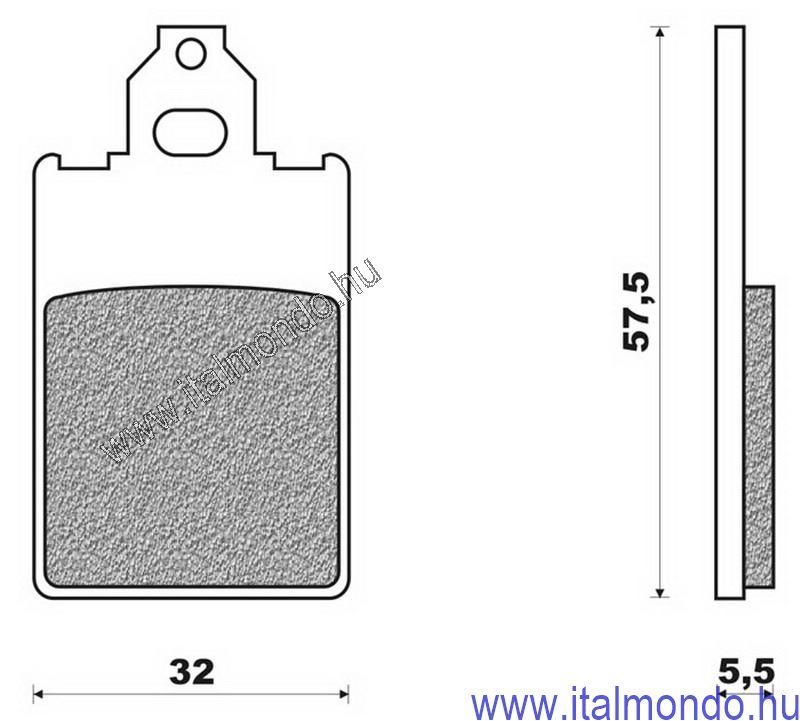 fékbetét F12-F15-AF1 50 1 csapos BRENTA