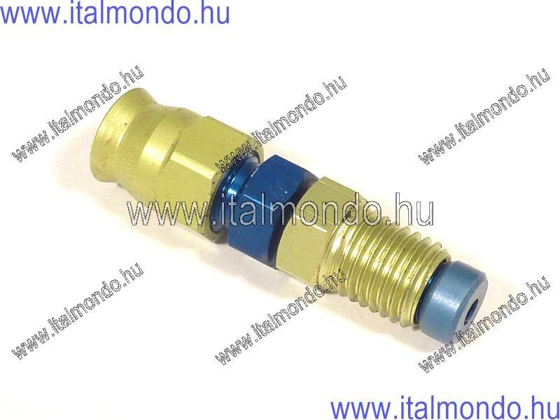 fékcsővég 10x1,25 egyenes lapos külső m. kék alu ALLEGRI CESARE