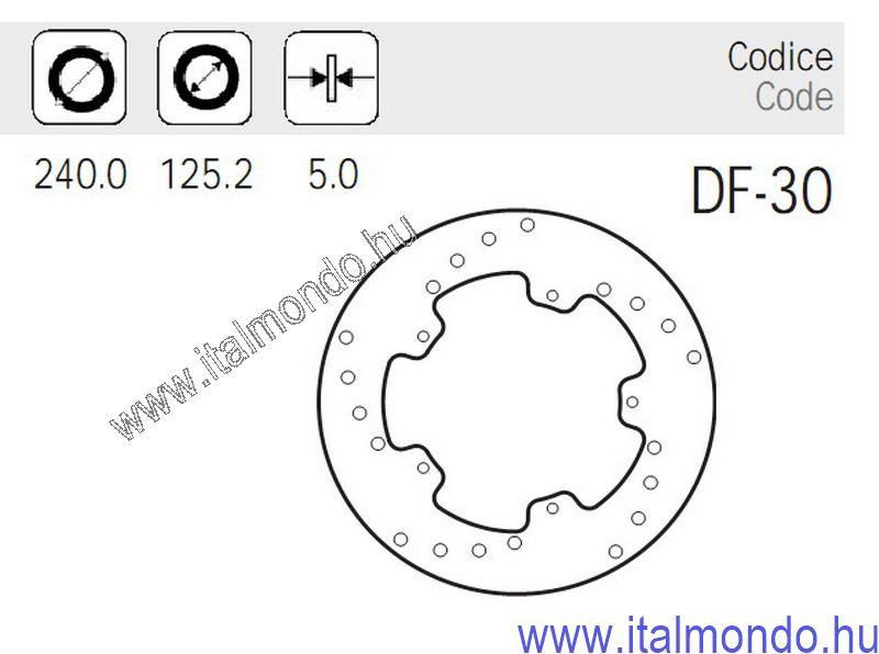 féktárcsa DNA-RUNNER 125-180-X8-X9 ADIGE
