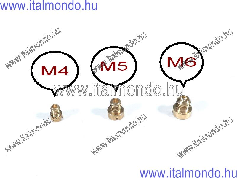 főfúvóka M 6 menettel Dell'Orto DELL'ORTO