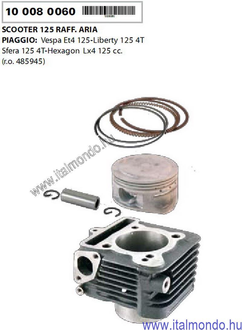 hengerkit ET4-LIBERTY-HEXAGON LX 125 D=57 RMS