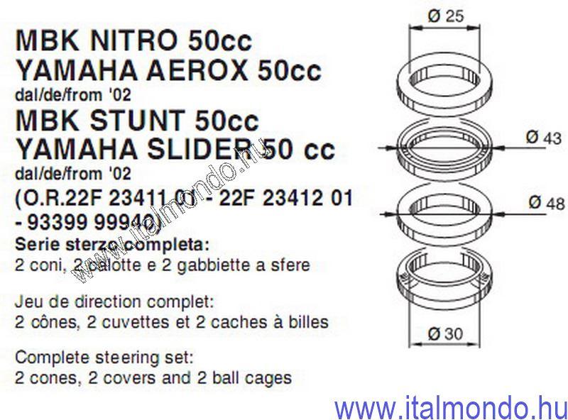 kormánycsapágy AEROX--NITRO ex 3988 BUZZETTI