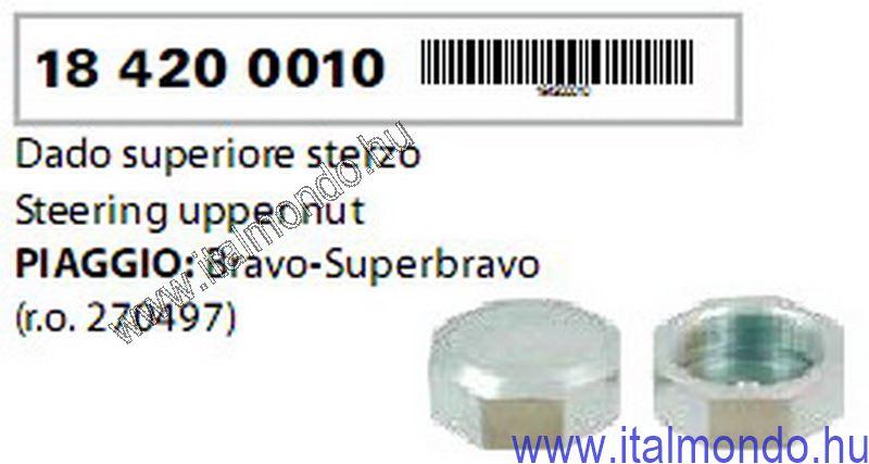 kormánycsapágy felső anya BRAVO-SUPERBRAVO RMS