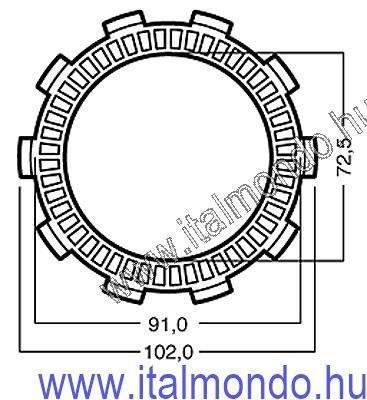 kuplunglamella CAGIVA 75 COCIS-SUPERCITY kopó ADIGE