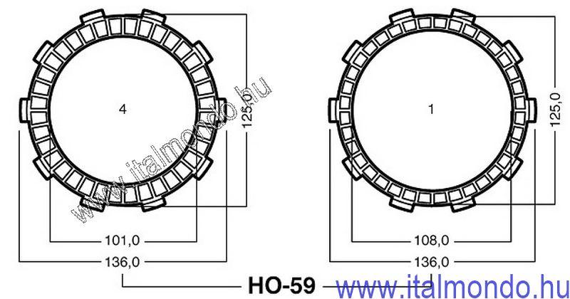 kuplunglamella HONDA NS-MTX 125 ADIGE