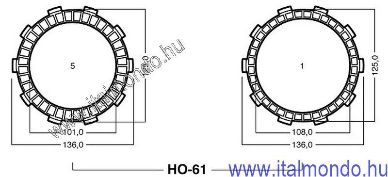kuplunglamella HONDA NSR 125 ADIGE