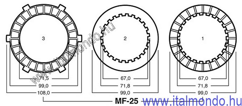 kuplunglamella MALAGUTI RST-FRANCO MORINI SURFLEX