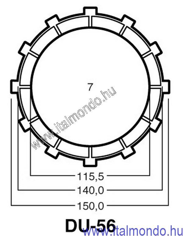 kuplunglamella MONSTER 900-907-916-ST2-ST4 ADIGE