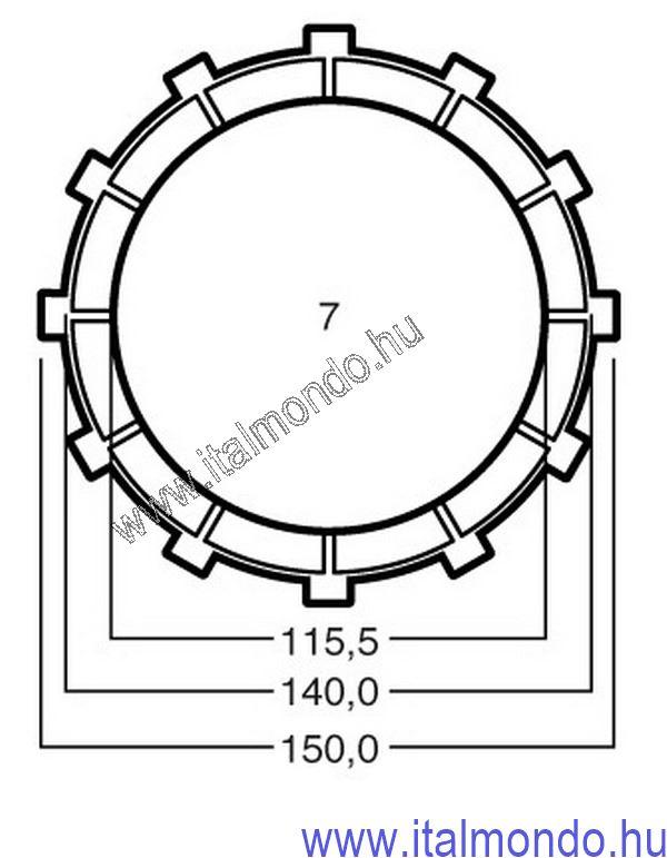 kuplunglamella MONSTER-SS-ST2-ST3-ST4-749-MULTISTR ADIGE