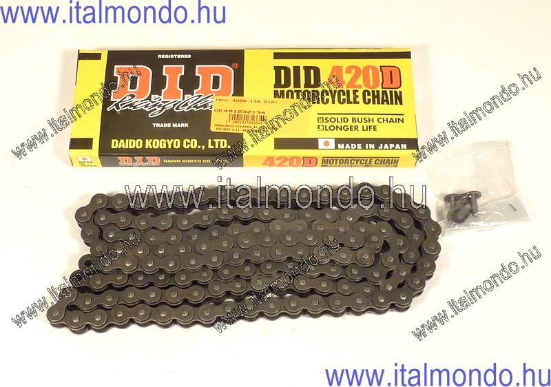 lánc 420D-130 DID normál 50-85cc D.I.D.