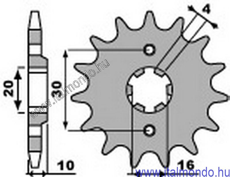 lánckerék első CAGIVA FRECCIA-MITO-N90 Z=13 CIF