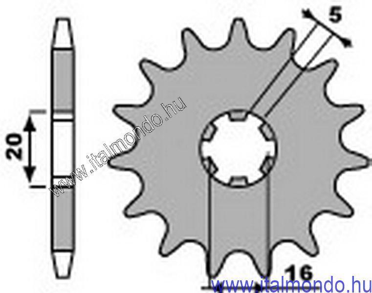 lánckerék első GAS GAS TXT-PAMPERA 125-250 P.B.R.