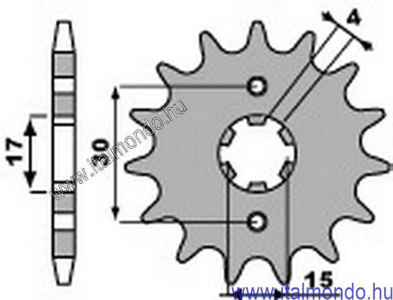 lánckerék első HONDA CB-CR-NSR-MBX-MTX 50-80 P.B.R.