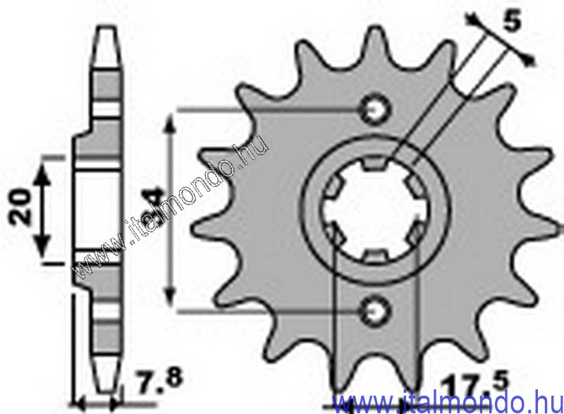 lánckerék első HONDA NSR-CRM-VT 125 P.B.R.