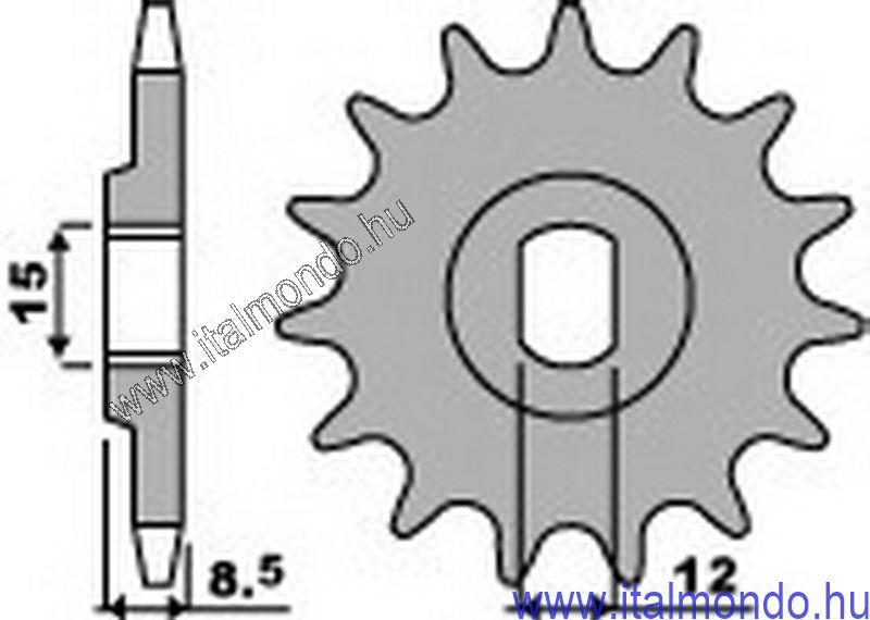 lánckerék első KTM 50 SX lapolt tengelyre P.B.R.