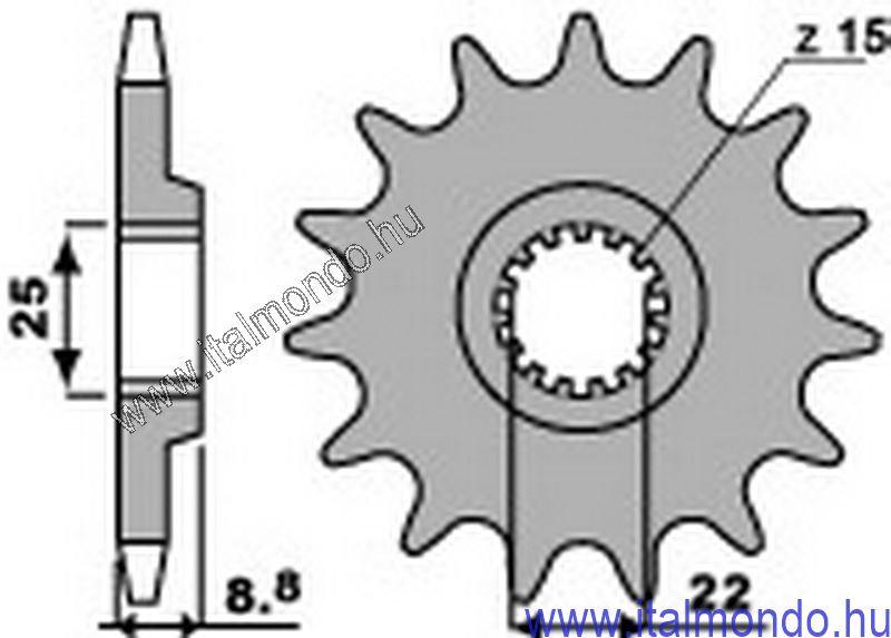 lánckerék első KTM EXC 125 P.B.R.