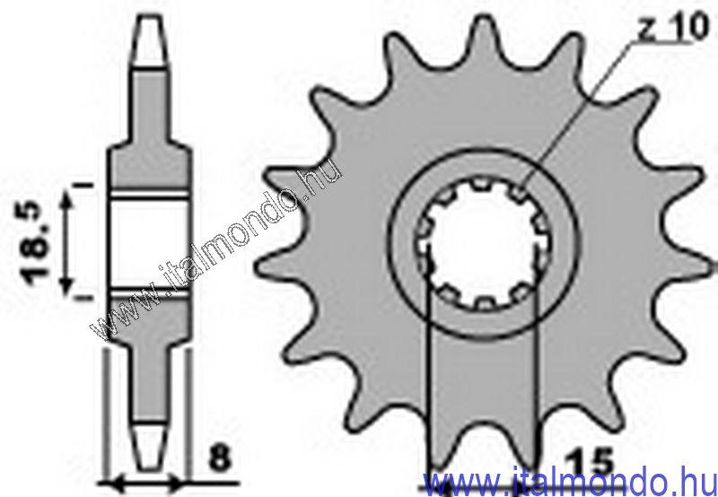 lánckerék első RS-RX-PEGASO-CLASSIC 50 P.B.R.