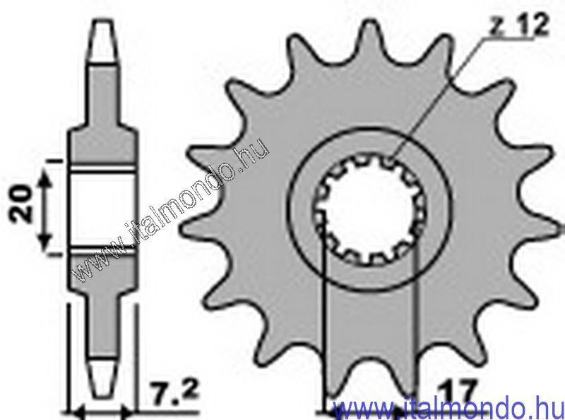lánckerék első RS-TUONO-RX-MX 50-DT 50 P.B.R.