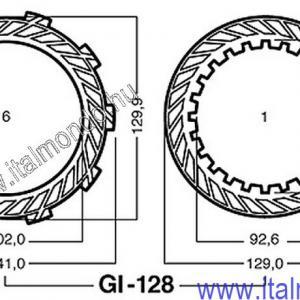 kuplunglamella GILERA SP-RC 125 ADIGE