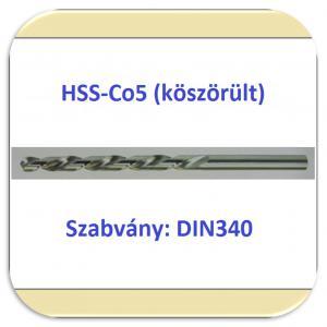 340 HSS-Co5 (köszörült fényes)