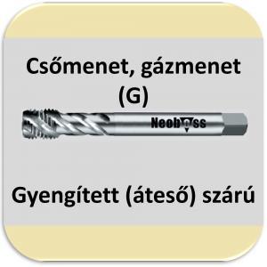 6040 (G) gázmenet csavarthornyú 40° HSSE