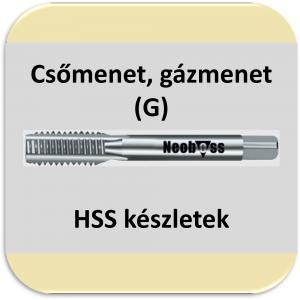 G (csőmenet) menetfúró (HSS) készletek