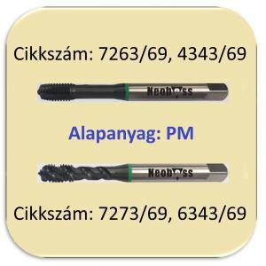 Gépi menetfúró univerzális 1200 N/mm2-ig