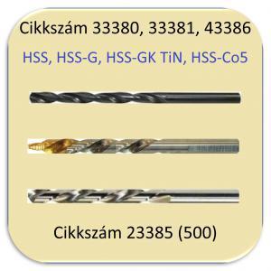 Hengeres szárú csigafúrók DIN338