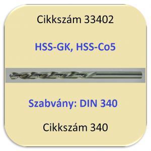 Hosszúszárú csigafúró DIN340
