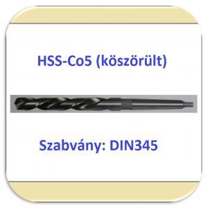 Kúposszárú csigafúró HSS-Co5 DIN345
