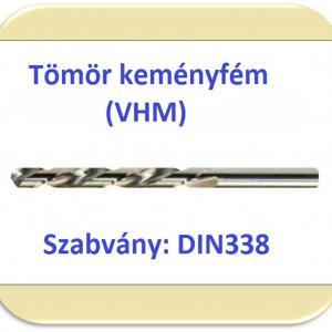 VHM (keményfém) csigafúró DIN338