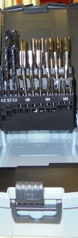 Kézi mf. készlet magfúrókkal HSS M3-M12