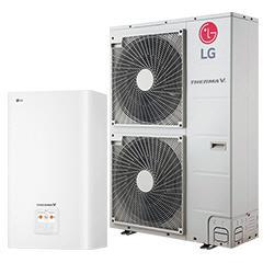 LG hőszivattyú 5 kW osztott kivitelezésű 1Ø    HN1616 + HU051